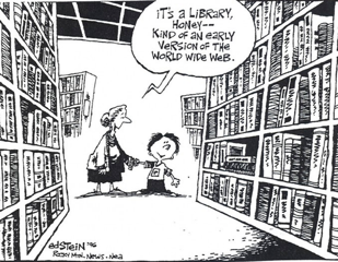 Library: an early version of the world wide web.